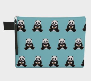 Baby panda's birthday pattern Zipper Carry All Pouch preview