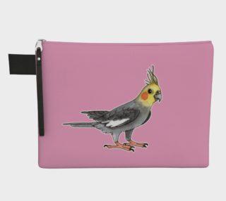 Cockatiel bird Zipper Carry All Pouch preview