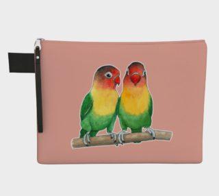 Fischer's lovebirds Zipper Carry All Pouch preview
