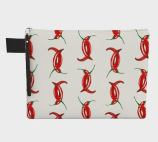 Hot peppers pattern Zipper Carry All Pouch preview