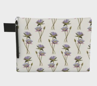 Lotus flowers pattern Zipper Carry All Pouch preview