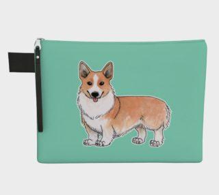 Welsh corgi dog Zipper Carry All Pouch preview