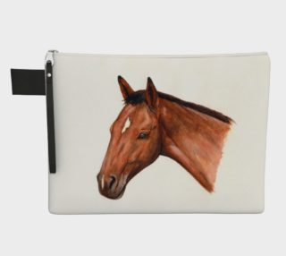 Bay horse portrait Zipper Carry All Pouch preview