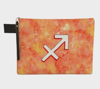 Sagittarius astrological sign Zipper Carry All Pouch preview