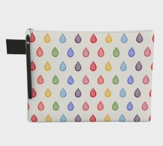 Rainbow raindrops Zipper Carry All Pouch preview