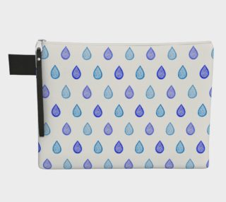 Blue raindrops Zipper Carry All Pouch preview