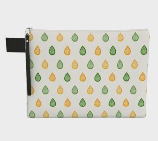Yellow and green raindrops Zipper Carry All Pouch preview