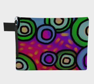 Aperçu de Circles Abstract Art Clutch Bag