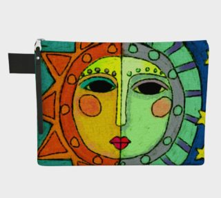 Sun and Moon Abstract Art Clutch Bag preview