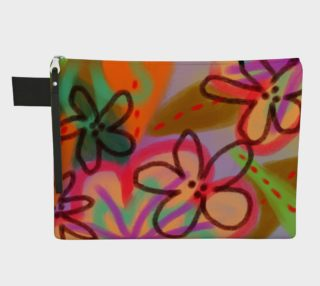 Wild Flowerz Abstract Art Clutch Bag preview