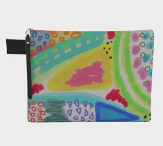 Colorful Abstract Art Clutch Bag preview