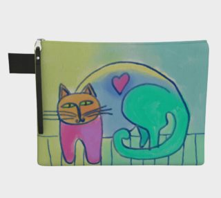 Happy Cat Abstract Art Clutch Bag preview