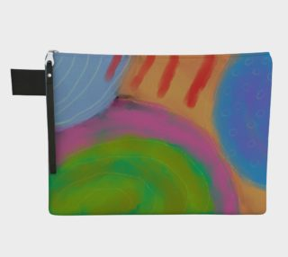 Original Abstract Art Clutch Bag preview