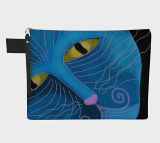 Blue Cat Face Abstract Art Clutch Bag preview