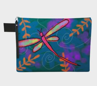 Colorful Abstract Dragonfly Clutch Bag preview