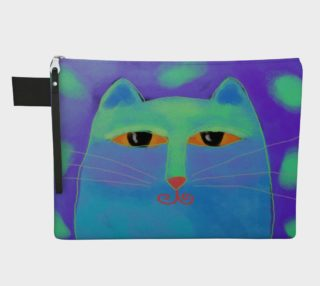Abstract Blue Cat Clutch Bag preview