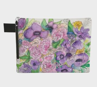 Peony & Poppy Zippered Pouch preview