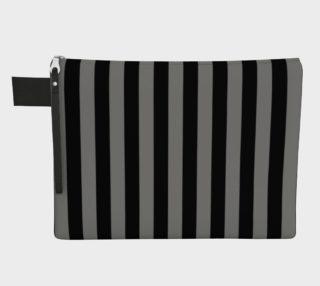 Aperçu de Black and Medium Grey Vertical Stripes