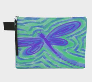 Aperçu de Dragonfly Abstract Art Clutch Bag