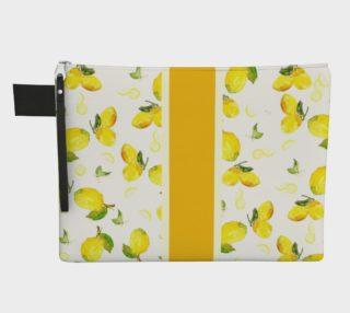 Aperçu de Lemon Stripe Zipper Bag
