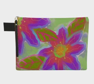 Funky Flowerz Abstract Art Clutch Purse preview