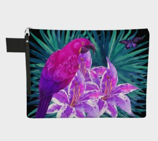 Tropical Parrot zipper carry-all preview