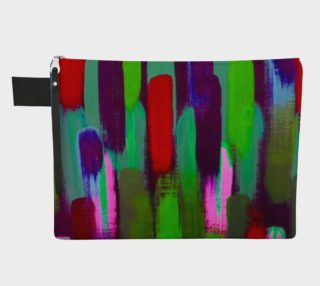 Brushstrokes Red and Green Carry-All preview