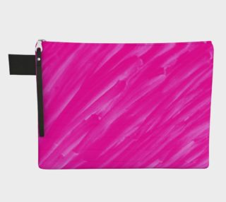 Hot Pink Happiness Zipper Carry-All preview