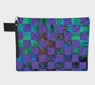 Purple Paper Weaving Zipper Carry-All preview