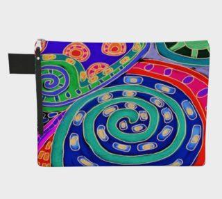 Aperçu de Colorful Abstract Art Clutch Bag