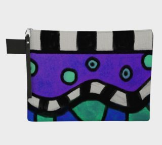 Funky Abstract Art Clutch Bag preview