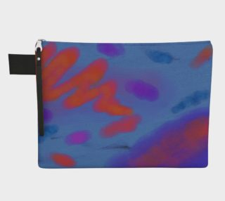 Aperçu de Blue Skies Abstract Art Clutch Bag