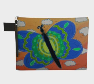Big Blue Butterfly Abstract Art Clutch Bag preview