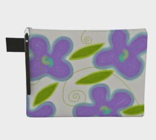 Aperçu de Purple Flowers Abstract Art Clutch Bag
