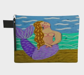 Aperçu de Purple Mermaid Abstract Art Clutch Bag