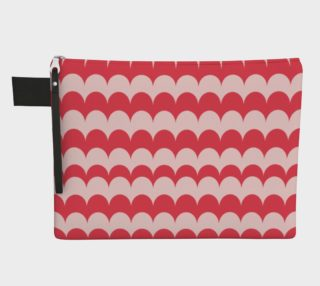 Pink Scallop Print Pouch preview
