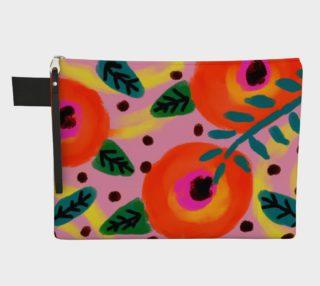 Aperçu de Wild Flowerz Abstract Art Clutch Bag