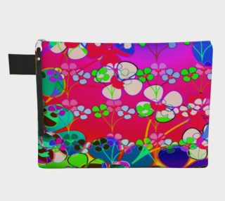 Abstract Colorful Flower Pink Background Art Zipper Carry All, AOWSGD preview