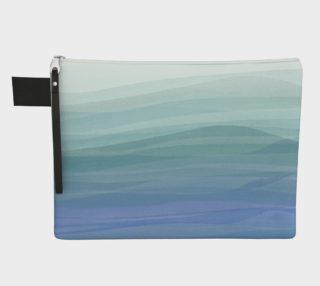 Aperçu de Watercolor Waves Zipper Carry-All