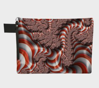 Candy Cane Fractal Zipper Carry All preview
