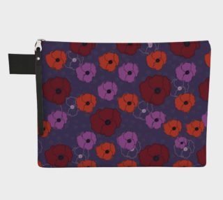 Poppies Zipper Carry-All Pouch preview