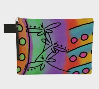 Dragonflies Abstract Art Clutch Bag preview