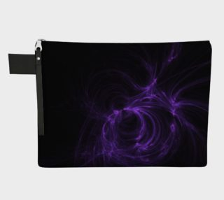 Purple Fractal on Black Zipper Carry All preview