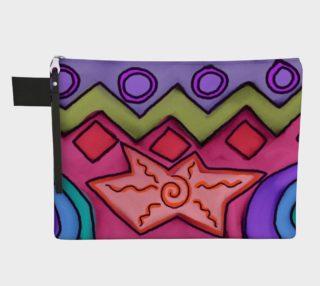 Aperçu de Funky Abstract Art Clutch Bag