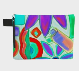 Aperçu de Summer 2 Abstract Art Clutch Bag