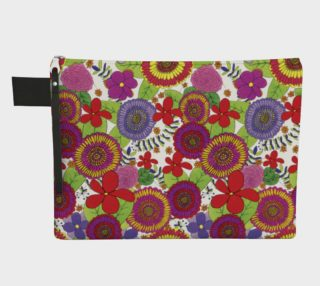 Bright & Cheery Flower Design Pattern Carry-all Pouch preview