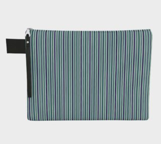 Navy and Kelly Green Stripe Zipper Carry All preview