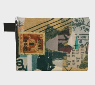 collage print pouch bag preview