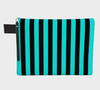 Aperçu de Black and Aqua Blue Stripes