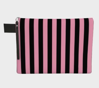 Aperçu de Black and Carnation Pink Stripes
